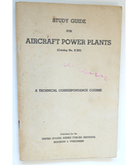 Study Guide Aircraft Power Plants book US Armed Forces 1951 military - $9.00