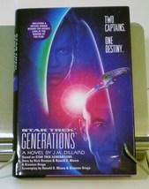 Star Trek Generations movie adaptation 1994 First Edition DJ HC - $6.50