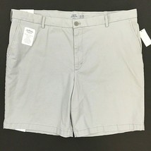 Izod Saltwater Relaxed Classics Shorts Size 42 Gray High Rise Flat Front... - $27.71