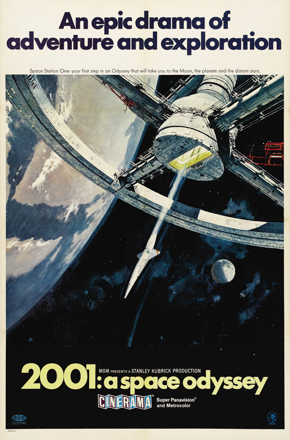 2001: A Space Odyssey Movie Poster 27x40 inches British Import Kubrick 2001 RARE