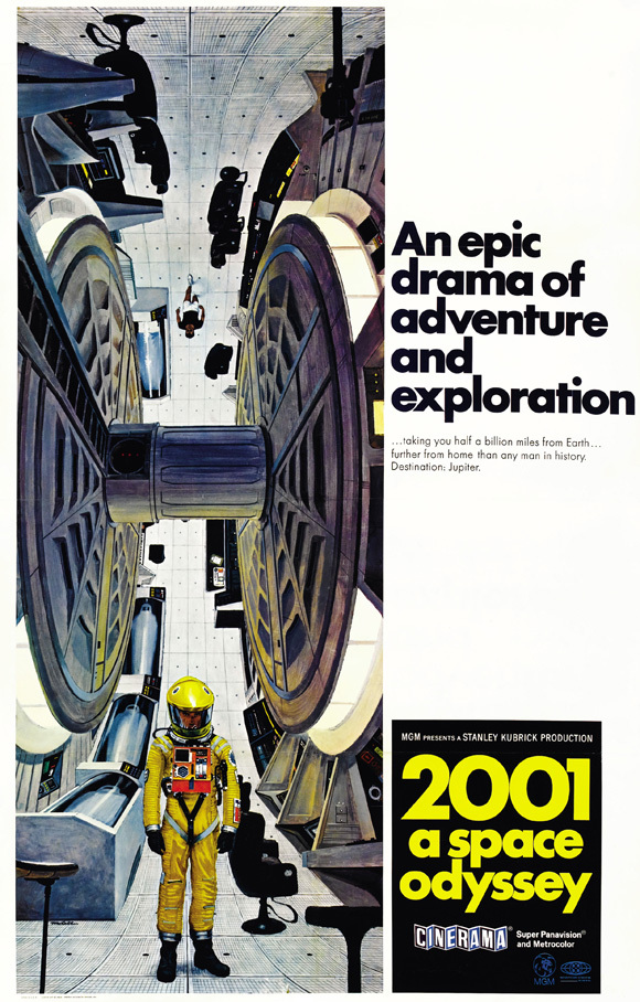 2001 a space odyssey poster yellow suit