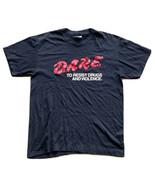 Vintage 1990s D.A.R.E Program T-Shirt Men's Size Large Black Single Stitch - $29.69