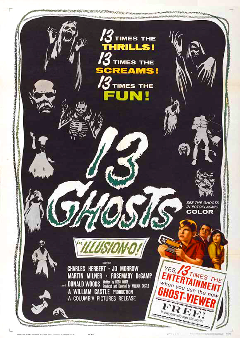 13 ghosts movie poster 1960
