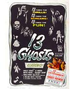 13 Ghosts Movie Poster 1960 27x40 inches William Castle Horror Illusion-O RARE  - $34.99