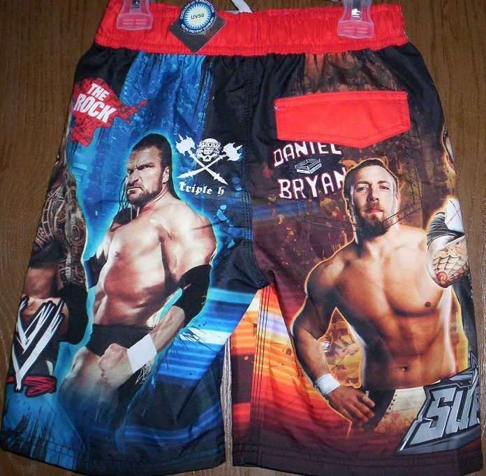 0fa7f7c0b7f20 WWE John CENA Triple H Swimtrunks 10/12 NEW Shorts Swim Trunks The Rock  Bryan