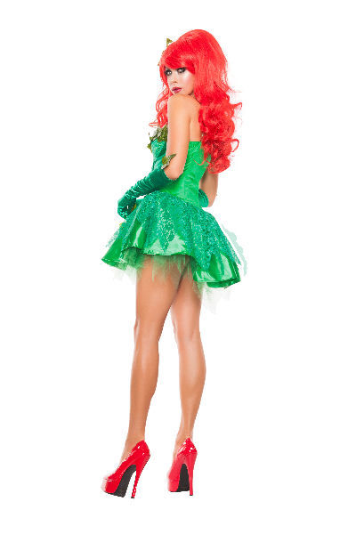 Sexy Starline Green Poison Ivy Seductress Dress 3pc Costume #S5154