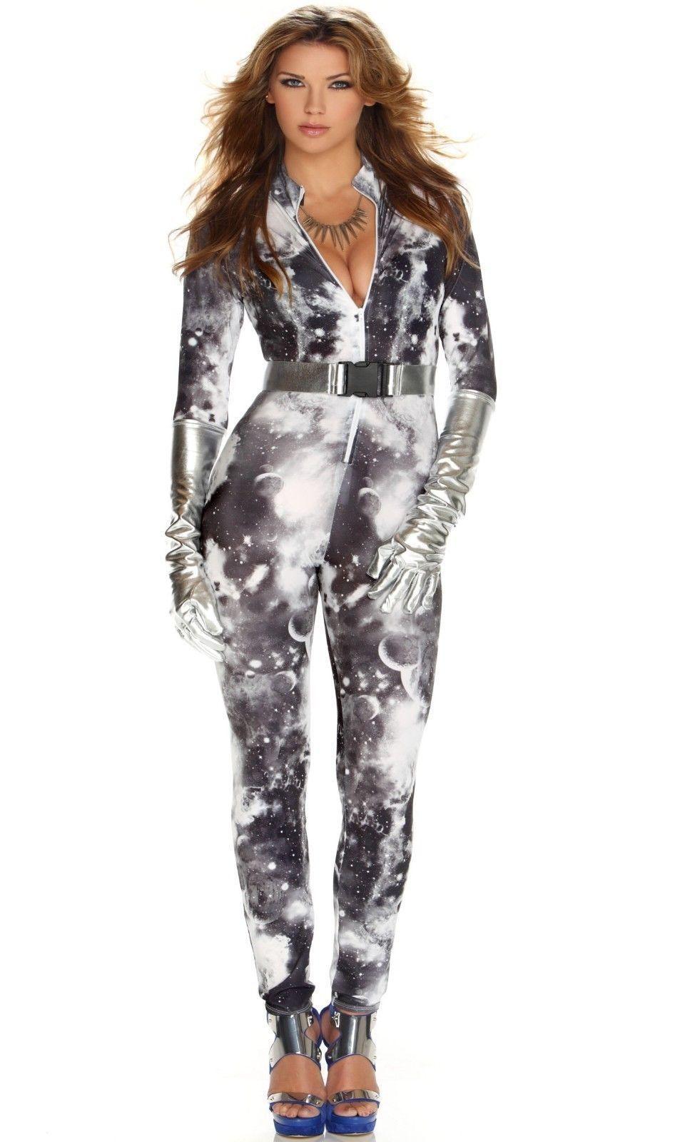 Sexy Forplay Astonishing Astronaut Jumpsuit Women Costume 3pc Set 553406 - $56.99