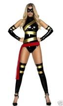 Sexy Forplay Haute Comic SuperHero Vinyl Bodysuit Ms. Marvel Costume 4pc 554703 - $57.99