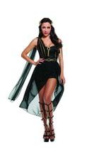 Sexy Starline Dark Roman Goddess Black Dress 2pc Costume S3278 - $63.99