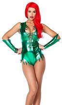Sexy Forplay Metallic Green Pretty Poisonous Ivy Bodysuit Costume 2pc 555247 - $62.99