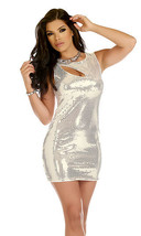 Forplay Clubwear Garnished Keyhole Sequin Mini Dress ~ Black or Silver - $41.99