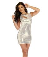 Forplay Clubwear Garnished Keyhole Sequin Mini Dress ~ Black or Silver - $41.99