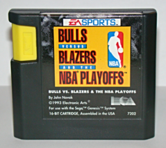 SEGA GENESIS - BULLS VERSUS BLAZERS and the NBA PLAYOFFS (Game Only) - $5.00