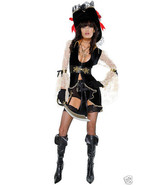 Sexy Forplay Caribbean Couture Vintage Pirate Costume 3pc Set - $48.99
