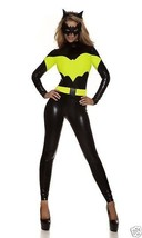 Sexy Forplay Darque Nights Comic Book Bat Hero Catsuit Jumpsuit Costume 4pc - $62.99