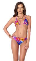 Forplay Tropical Get Away Swimsuit Turtle Shell Print Triangle Bikini - $24.99