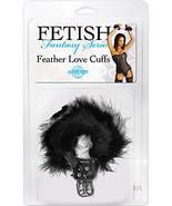 Fetish Fantasy Feather Love Cuff Black - $18.99