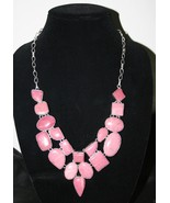 BEAUTIFUL RHODONITE Pink Gemstone Necklace 925 Sterling Silver Overlay 1... - $28.99
