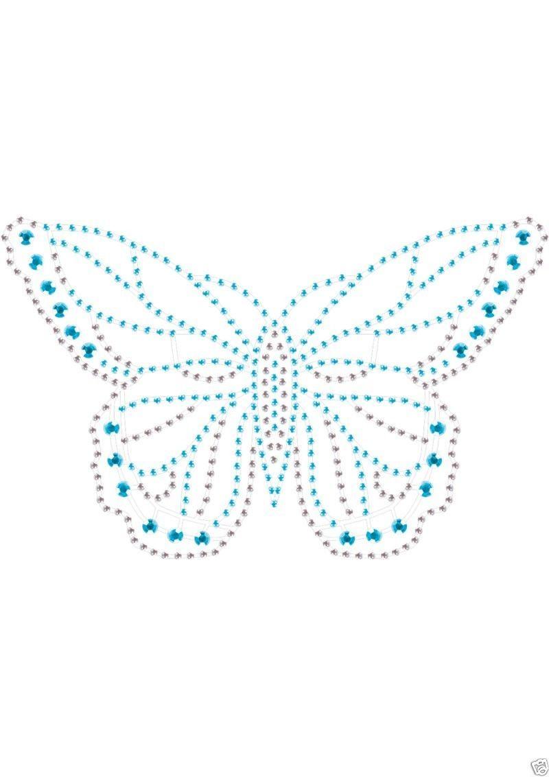 Peekaboo intimate body crystals rhinestone tattoo blue for Rhinestone body tattoos