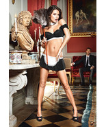 BACI Sexy French Maid Uniform Black Ruffle Top & Skirt Lingerie Costume ... - $29.99
