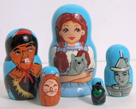 5pcs Hand Painted Russian Nesting Doll of Wizar... - $24.70