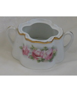 Antique Z.S. & Co Bavaria Sugar Bowl Pink Roses Hand Painted 1800's - $42.00