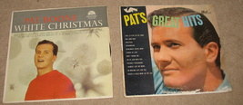 2 Vintage Pat Boone Vinyl LP Albums White Christmas & Great Hits - $21.00