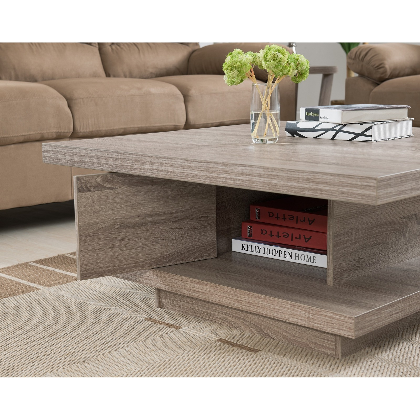 Colorful Modern Coffee Table: Contemporary Modern Wood Coffee Tables Unique Square Style