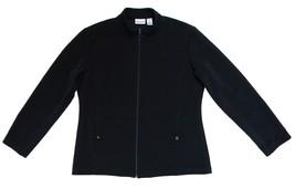 Chico's Size 2 (L / 12) Womens Black Zip Front Jacket  - $49.99