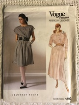 VINTAGE VOGUE 1890 *GEOFFREY BEENE* DESIGNER DRESS PATTERN Sz XL 20~22 - $22.00