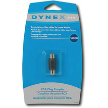 Dynex DX-AD107 RCA Plug Coupler Cable Extender - $4.99