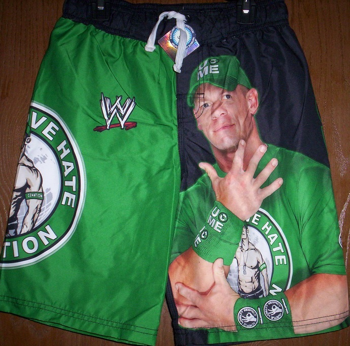 544181568ae00 WWE John CENA Swim Trunks Boy's 6/7 NEW and 15 similar items. Swimcenagreen1