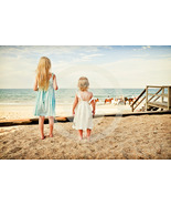 'Child Wonder' (children on beach w/ horses) Fine Art Print- 8x10 matted... - $30.00