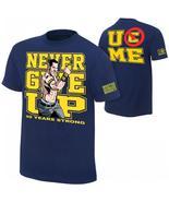 WWE John CENA Navy Blue s/s Shirt Boy's 4/5 New Never Give Up U Can't Se... - $18.99