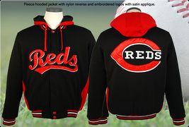Cincinnati reds fleece jacket rds 933 hod3 blk red thumb200