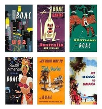 6 BOAC Airlines Magnets - $21.99