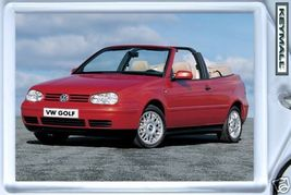 KEY CHAIN RED VW GOLF Mk3 CONVERTIBLE KEYTAG CABRIOLET CABRIO PORTE CLE ... - $9.95