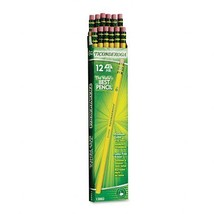 Box of 12 Yellow Dixon Ticonderoga Wood-Cased Pencils, #2 HB #Back to School - $9.22
