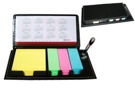 New Sticky Note-Leather Organizer with Calendar & Pen Holder #KeepOrgani... - $29.91