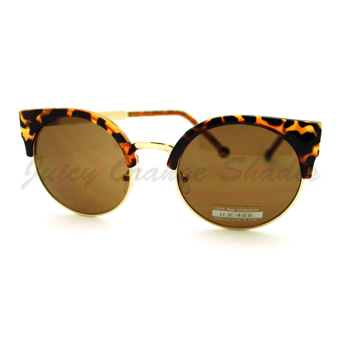 Round Cateye Sunglasses Womens Sexy Retro Fashion Shades