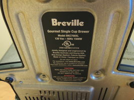 Breville BKC 700 XL Stainless Steel Gourmet Keurig K- Cup Coffee Brewer BKC700XL image 10
