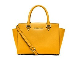 Michael Kors Selma Medium TOP ZIP Satchel SUN - $294.03