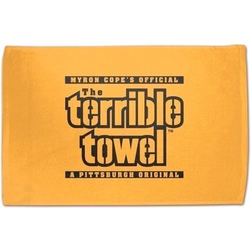 2 PITTSBURGH STEELERS OFFICIAL MYRON COPE'S TERRIBLE TOWEL GAME PARTY MAN CAVE