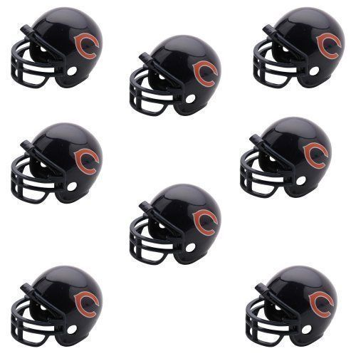 CHICAGO BEARS 8 PARTY PACK NFL FOOTBALL HELMETS made by Riddell!