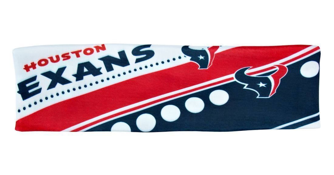 HOUSTON TEXANS STRETCH PATTERN HEADBAND GAME TAILGATE PARTY NFL FOOTBALL