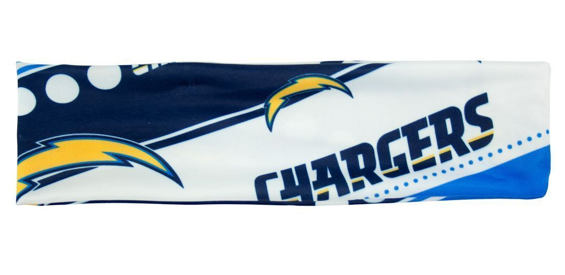 SAN DIEGO CHARGERS STRETCH PATTERN HEADBAND GAME TAILGATE PARTY NFL FOOTBALL