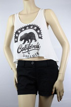 California Bear Crop Sexy Tank Top Comfy Shirts Casual Party Jersey Sports Top - $13.99