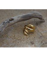 JenniferLove Women Statement Ring Elegant Gold Plated Snake Shape Unique... - $46.49