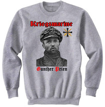 Gunther Prien Kriegsmarine Germany Wwii   New Cotton Grey Sweatshirt - $46.18