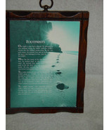 Wall Wooded FOOTPRINTS PLAQUE - $10.00